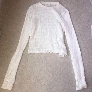 White FREE PEOPLE knit sweater